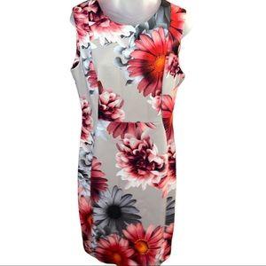 NWT Calvin Klein Beige & Orange Floral Dress